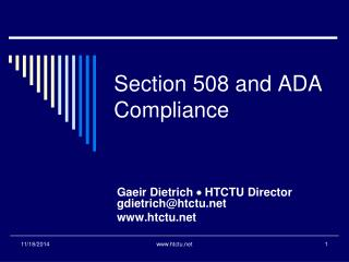 Section 508 and  ADA Compliance