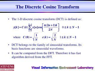 The Discrete Cosine Transform