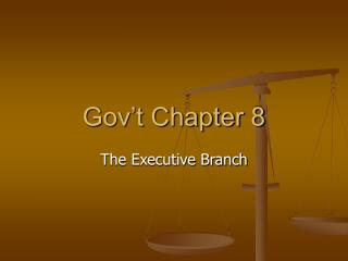 Gov�t Chapter 8