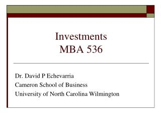 Investments MBA 536