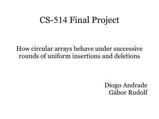 CS- 514  Final Project