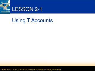 LESSON 2-1