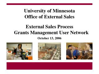 University of Minnesota Office of External Sales