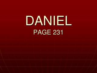 DANIEL PAGE 231