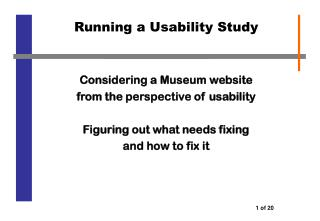Running a Usability Study