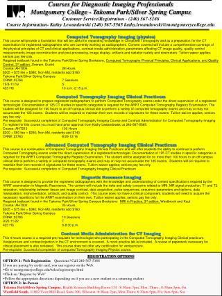 Courses for Diagnostic Imaging Professionals