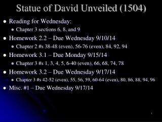Statue of David Unveiled (1504)