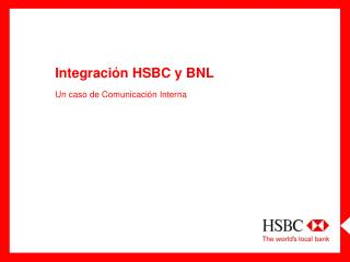 Integraci n HSBC y BNL