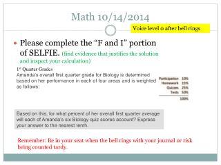 Math 10/14/2014