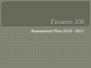 Finance 206