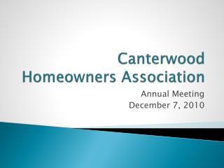 Canterwood Homeowners Association