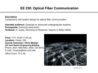 EE 230: Optical Fiber Communication