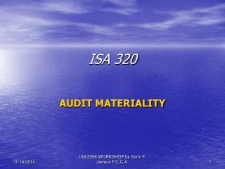 ISA 320