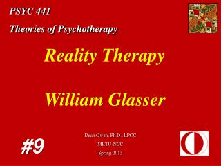 PSYC 441 Theories of Psychotherapy