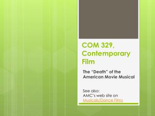 COM 329, Contemporary Film