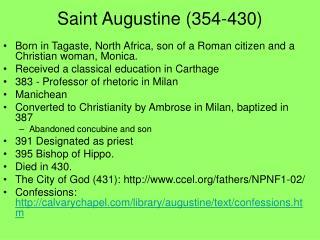 Saint Augustine (354-430)