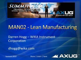 MAN02 - Lean Manufacturing
