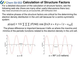 Calculation of Structure Factors