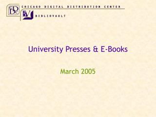 University Presses  E-Books