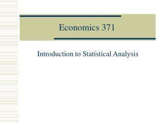 Economics 371