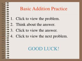 Basic Addition Practice