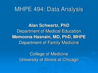 MHPE 494: Data Analysis