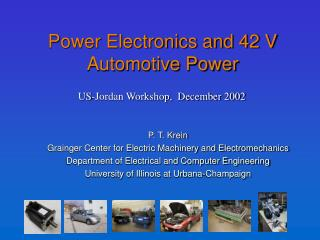 Power Electronics and 42 V Automotive Power