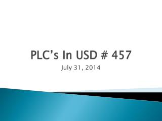 PLC's In USD # 457