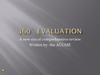 360˚ Evaluation
