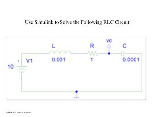 Use Simulink to Solve the Following RLC Circuit