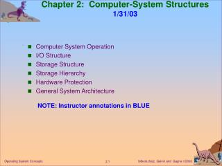 Chapter 2:  Computer-System Structures 1