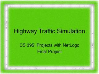 highway traffic operations essay