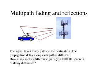 Multipath fading and reflections