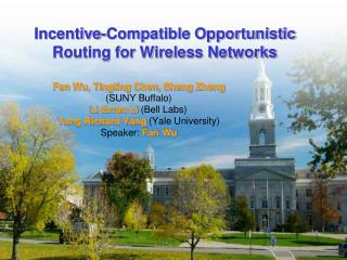 Incentive-Compatible Opportunistic Routing for Wireless Networks