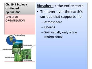 Ch. 19.1 Ecology continued pp.362-365