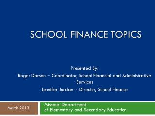 School Finance Topics