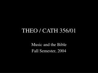 THEO / CATH 356/01