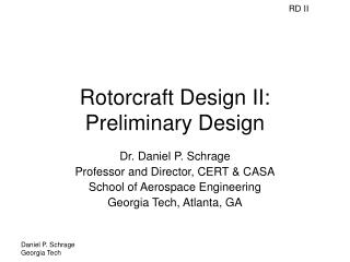 Rotorcraft Design II: Preliminary Design