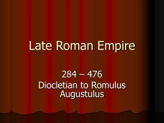 Late Roman Empire