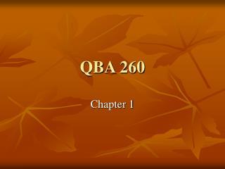 QBA 260
