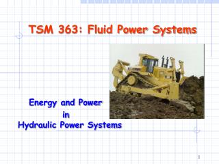 TSM 363: Fluid Power Systems