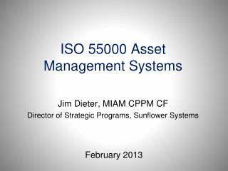 ISO 55000 Asset Management Systems