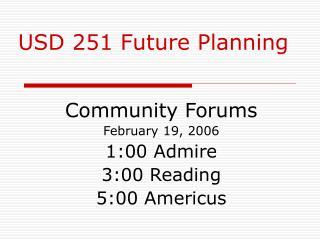 USD 251 Future Planning