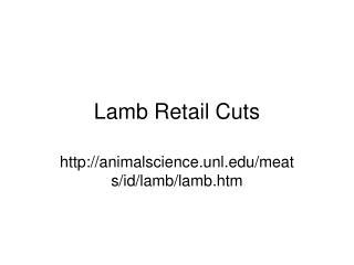 Lamb Retail Cuts