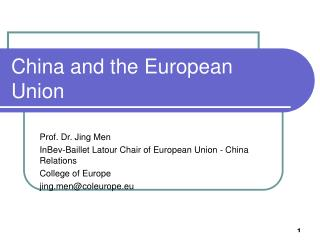 China and the European Union