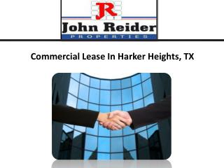 Commercial Lease Harker Heights, TX