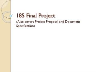 185 Final Project