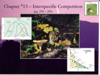 Chapter  # 13 � Interspecific Competition (pg. 258 � 280)