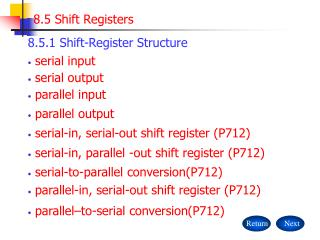 8.5 Shift Registers