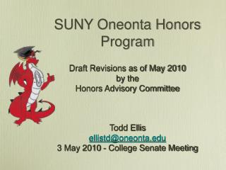 SUNY Oneonta Honors Program